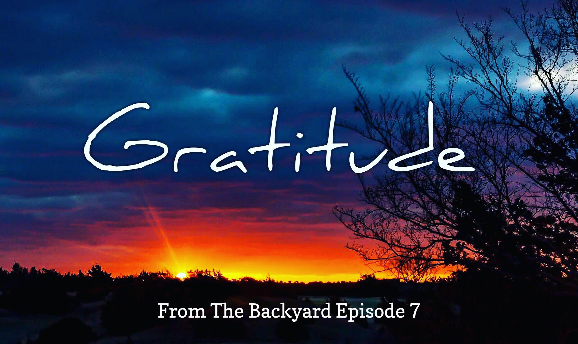 From The BackyardVideo Episode 7 bySteven Shomler–Reflections on Gratitude